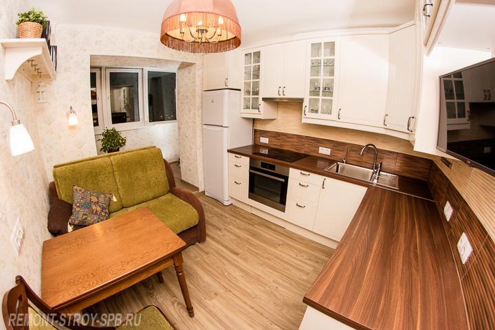 дизайн однокомнатной квартиры под ключ